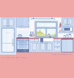 house kitchen classic design interior flat vector image