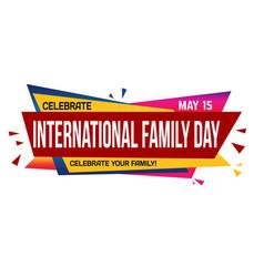international family day banner design vector image
