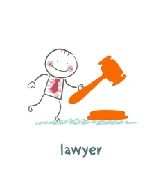Lawyer knocking hammer vector