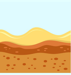 layers of soil vector image