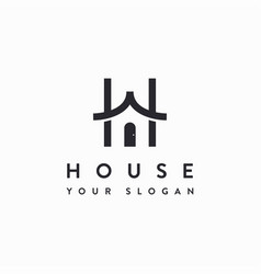 Letter h for house logo icon template vector