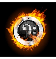 Loudspeaker on fire isolated vector