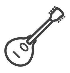 mandolin line icon music and instrument vector image
