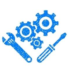 Mechanics Tools Grainy Texture Icon vector