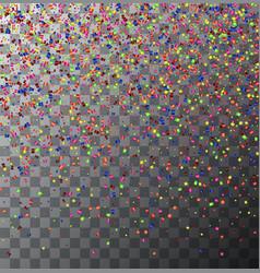 modern festive confetti on transparent vector image