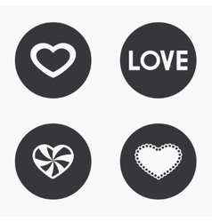 modern heart icons set vector image