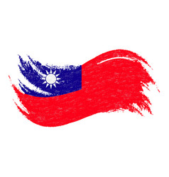 National flag of taiwan designed using brush vector