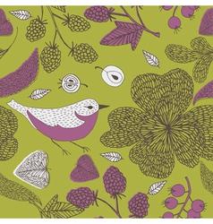 nature bird print vector image