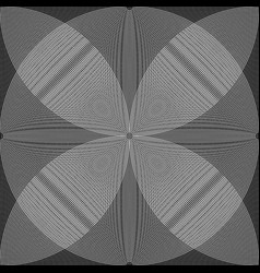 Overlapping intersecting circles moire effect vector