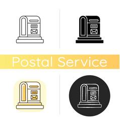 parcel post chalk white icon vector image