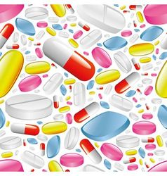 pills and capsules seamless pattern vector image