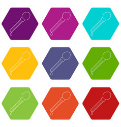 pipette icons set 9 vector image