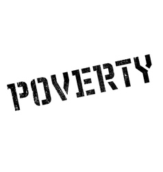 Poverty rubber stamp vector