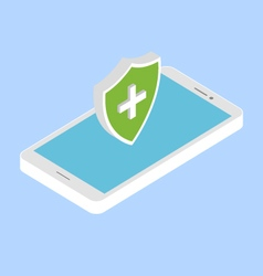 Protect your phone from viruses vector