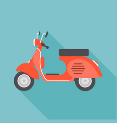red vintage motorcycle vector image