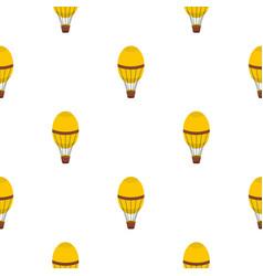 Retro hot air balloon pattern seamless vector