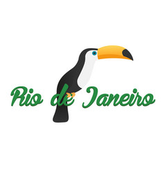 rio de jeaneiro logo travel in brasil south vector image