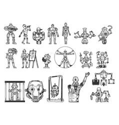 Robots set sketch vector