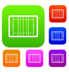 Rugby field set collection vector