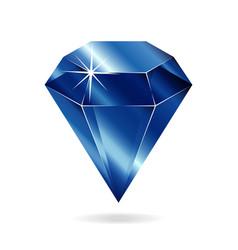 Sapphire gemstone vector