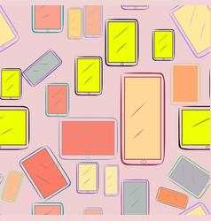 Seamless handphone or mobilephone background vector