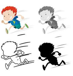 set boy running vector image