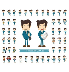 Set of businessman character vector