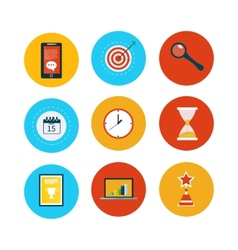 Set of modern flat design concept icons vector image