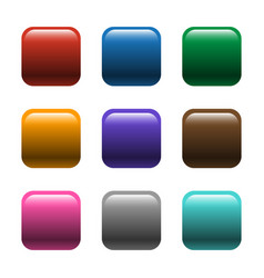 Shiny square color buttons vector
