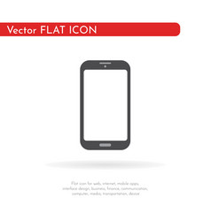 smartphone mobile icon flat design vector image