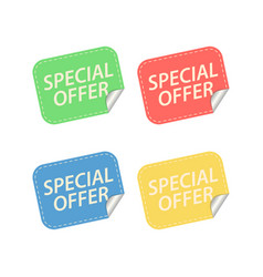 special offer labels isolated on white vector image