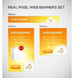 Standard size web banners set vector