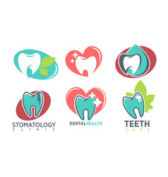 stomatology dental clinic whote tooth icon vector image