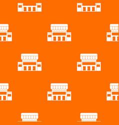 Supermarket building pattern seamless vector