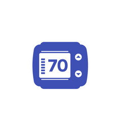 Thermostat isolated icon vector