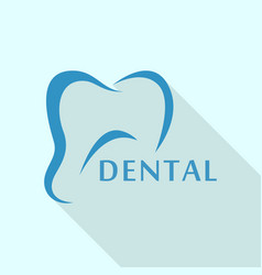 tooth logo icon flat style vector image