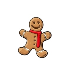 Traditional Christmas gingerbread vector image