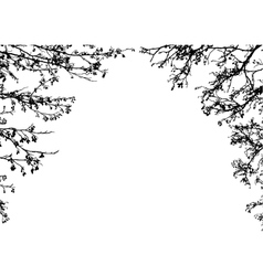 Tree branches frame vector