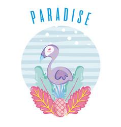 Tropical paradise concept design vector