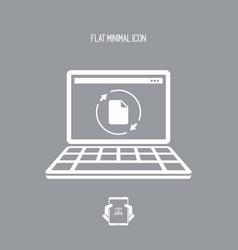 updates file - flat minimal icon vector image