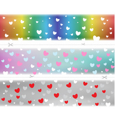 valentine hearts pattern color template vector image