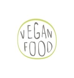 Vegan food label design vector