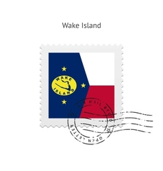 Wake Island Flag Postage Stamp vector
