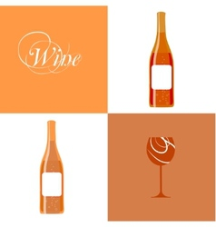 wine bottle silhouette vector image