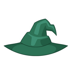 Witch hat icon cartoon style vector