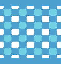 blue white checkered pattern vector image vector image