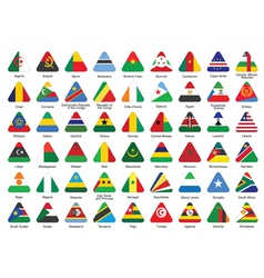 icons with African flags vector image vector image
