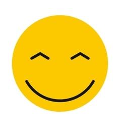 Joyful smiley icon flat style vector image