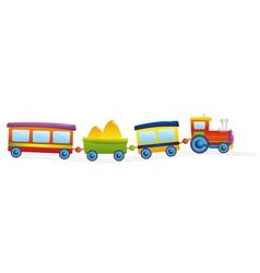locomotive cartoon vector image vector image