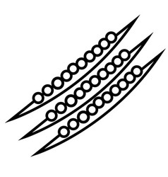 peas icon vector image